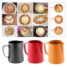 304 Stainless Steel Milk Frothing Pitcher 400ML, Espresso Steaming Pitcher for Espresso Machines, Coffee Latte Arts