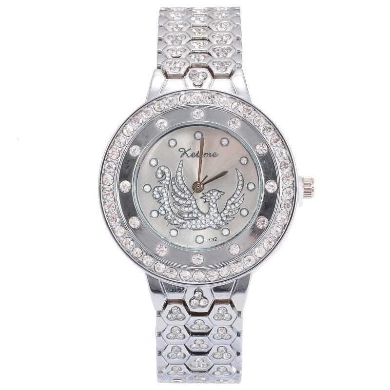 Women Ladies Bling Diamonds Crystal Strap Watch Fashion Luxury Stainless Steel Analog Quartz WristWatches Gift Relogio Feminino