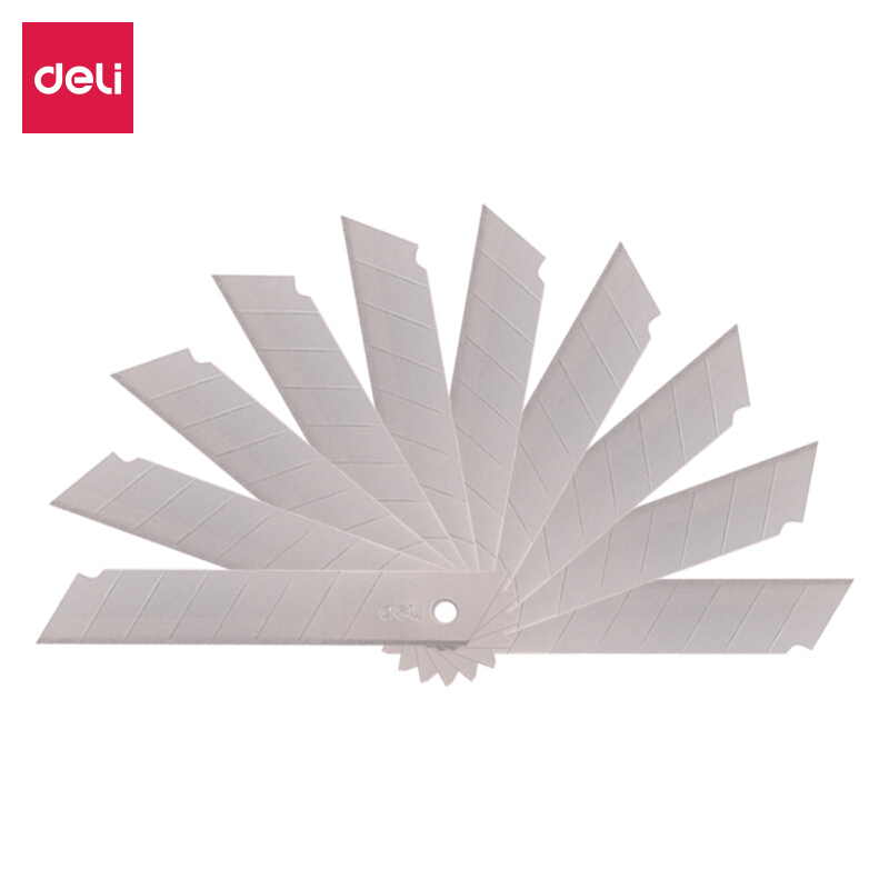 Deli 10pcs/box 8head SK5 Alloy Steel Large Utility Knife Blade / Paper Cutting Blade Office School Supplies 2011