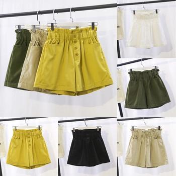 шорты женские short шорты джинсовые женские shorts for women велосипедки 2020 ropa de mujer Elasticated High Waist Breasted Z4