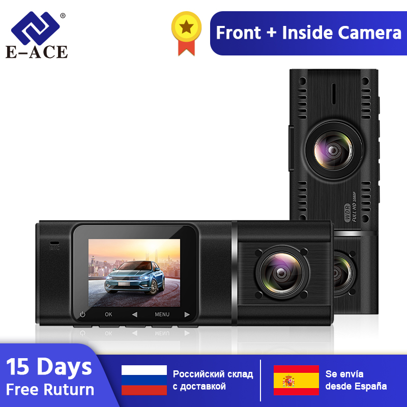 E-ACE B38 Mini <font><b>Car</b></font> <font><b>Dvr</b></font> Dash Cam Full HD 1080P Dvrs Dashcam <font><b>Two</b></font> Camaras Video Recorder Night Vision <font><b>Car</b></font> <font><b>Camera</b></font> Auto Registrator image
