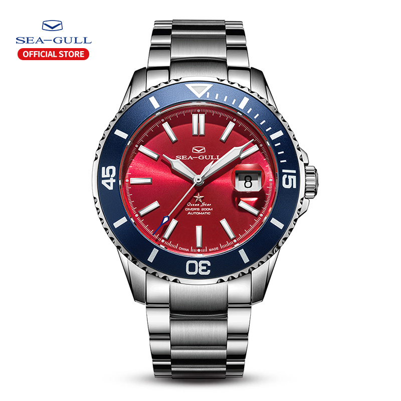 2020 New Seagull Men's Watch 65th Anniversary Limited Edition Ocean Star Commemorate 200m Waterproof Diving Luminous Rolex
