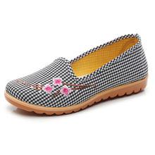 Классические тканевые туфли на весну женская обувь однотонные