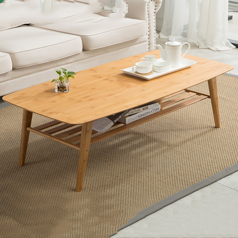 Leisure Table Small-sized Solid Wood Short Table Tea Table Living Room, Nanzhu Northern Europe Tea Table, Simple And Modern Home