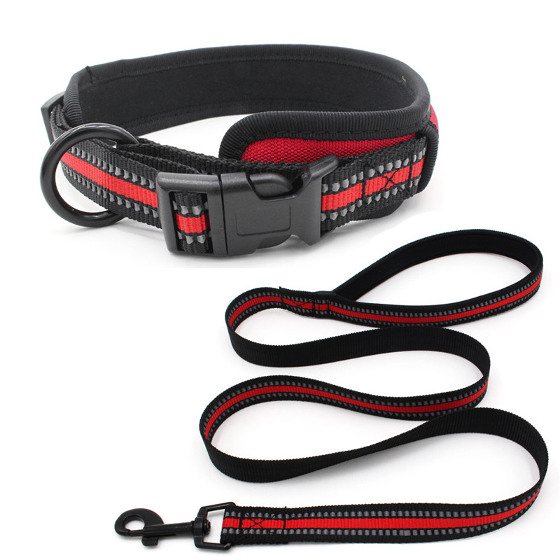Diving Cloth Lining Pet Collar Reflective Woven Tape Release Buckle Dog Neck Ring 2019 New Products Pet