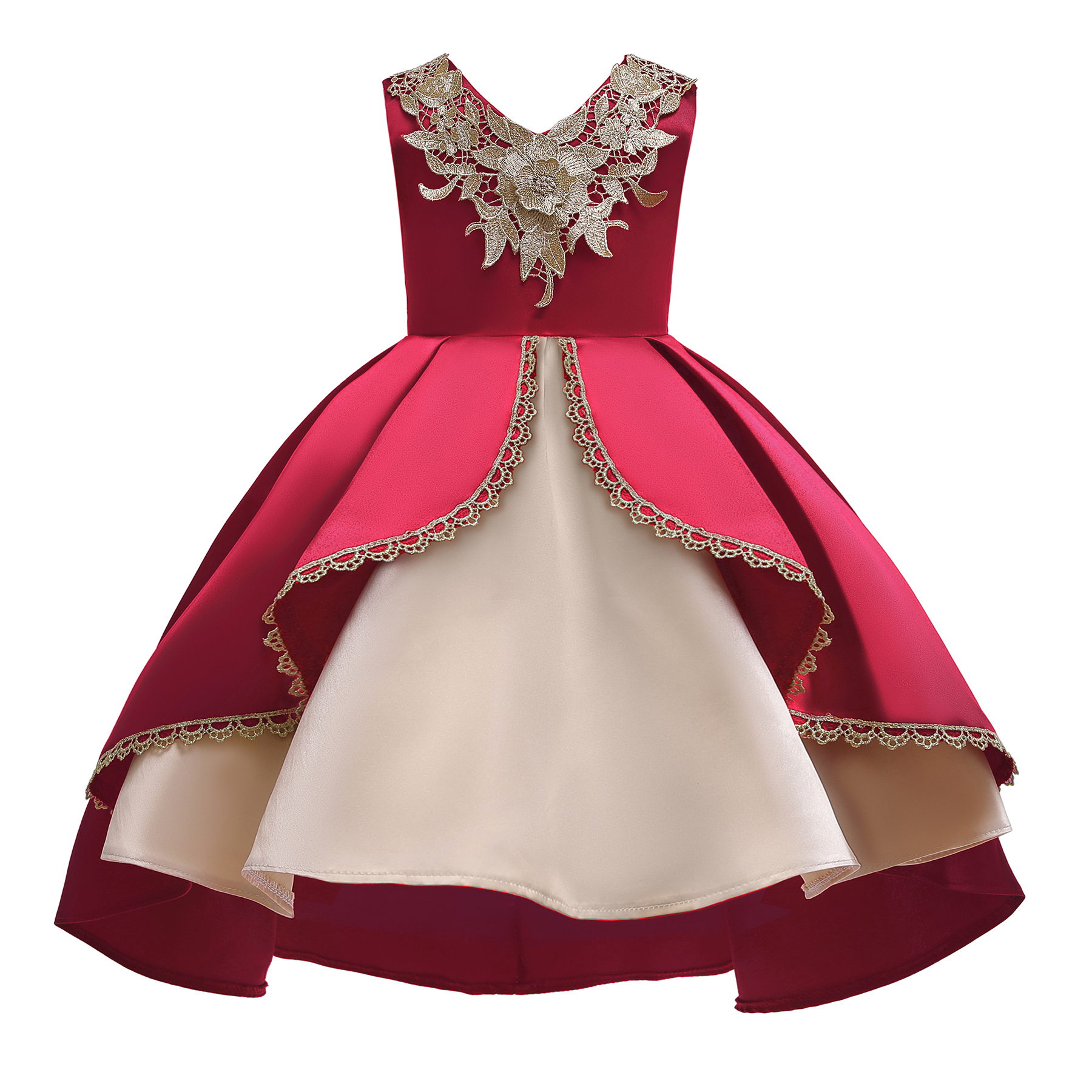 Petit Camelia Girl Party Dress 2019 Elegant Girl Evening Dress For Wedding Birthday Kids Dresses For 3 to 9 Years Girls