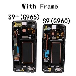 Image 5 - قطعة غيار سوبر أموليد أصلية لسامسونج غالاكسي S9, محوِّل رقمي لشاشة إل سي دي تعمل باللمس مع إطار S9 بلس، شاشات البلورات السائلة G960 G965 مع الإطار