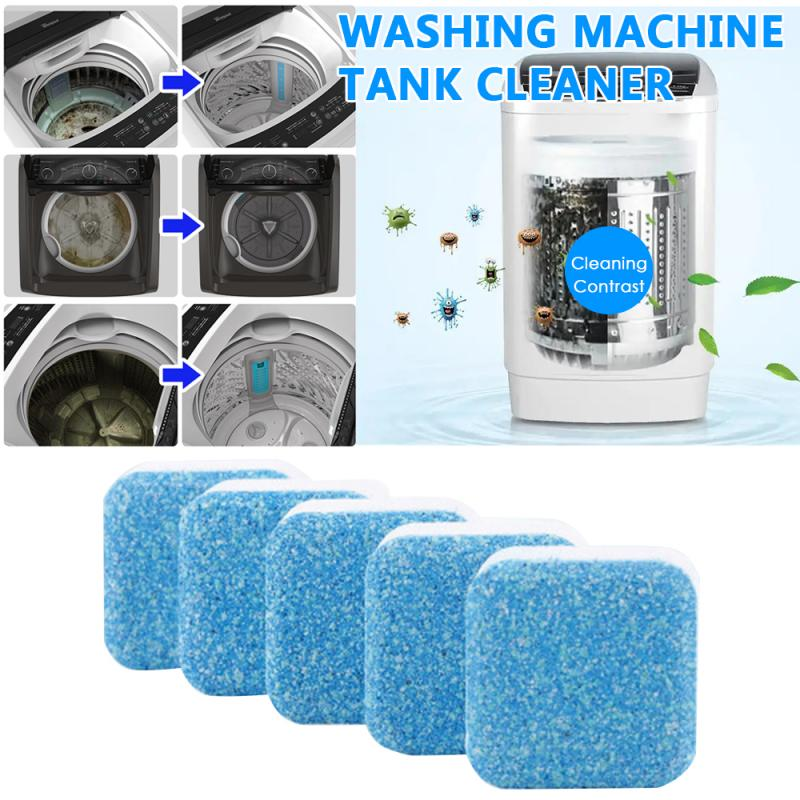 1/5/10 Tab Multi-purpose Washing Machine Cleaner Washer Cleaning Detergent Effervescent Tablet Washer Cleaner Home Cleaning Tool