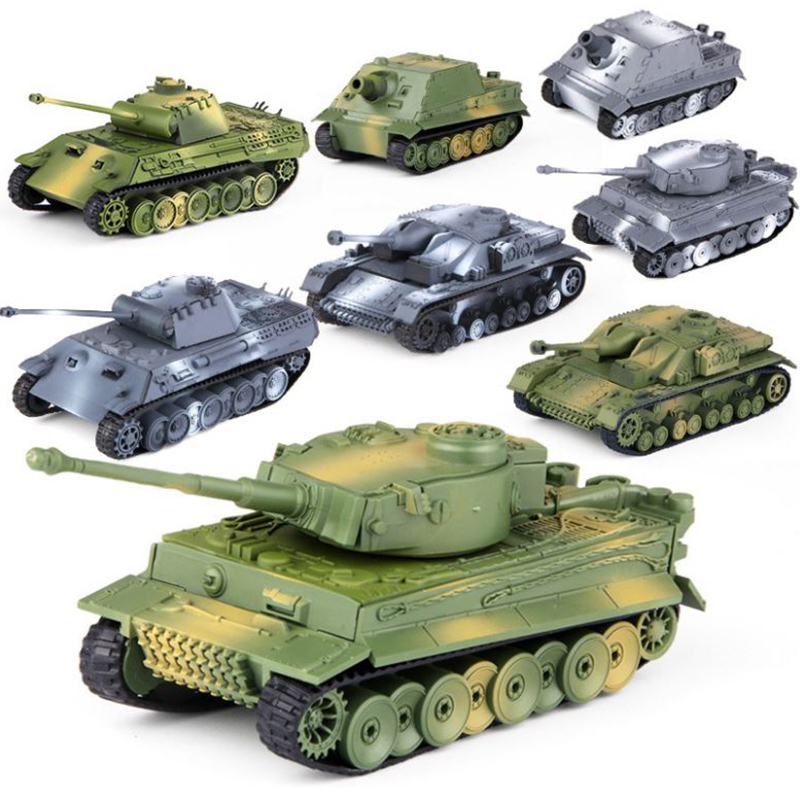 1:72 Mini  Plastic Assemble Tank Kits World War II Model Puzzle Assembling Military Sand Table Toys For Children Gift Collection