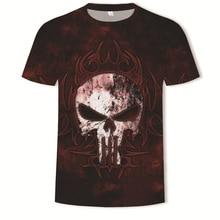 Human Skeleton Head 3d Printing Short Sleeve Mens tshirt streetwear male shirt Creative Design t-shirt