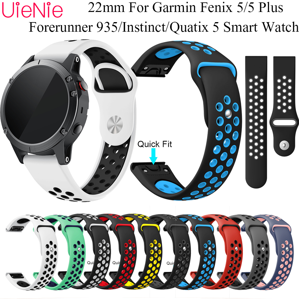 22mm Quick release band For Garmin Fenix 5/5Plus classic strap For Garmin Forerunner 935/Instinct/Quatix 5 Smart Watch bracelet image