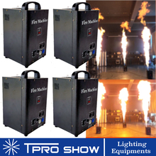 4Pcs Fire Machine Dmx Flame Projector Special Pyro Stage Effect Spray Fire Flame For DJ Disco Outdoor Wedding Flight Case Option