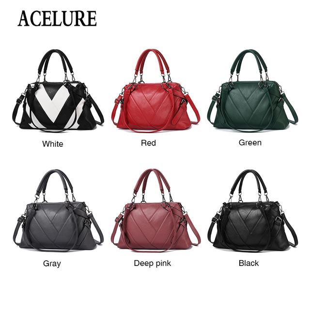 ACELURE Pu Leather Bag Large Women Leather Handbags Famous Brand Women Messenger Bags High Quality Big Ladies Shoulder Bag New