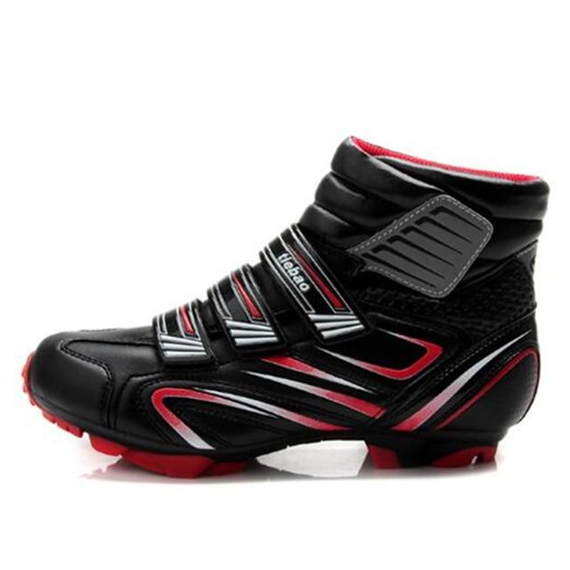 Apuramento! Tiebao sapatos de bicicleta mtb, calçados para ciclismo de montanha, autotravamento, cano alto, triathlon, EU38-47 3