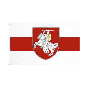 Belarus white knight pagonya 3x5ft/90x150cm flag
