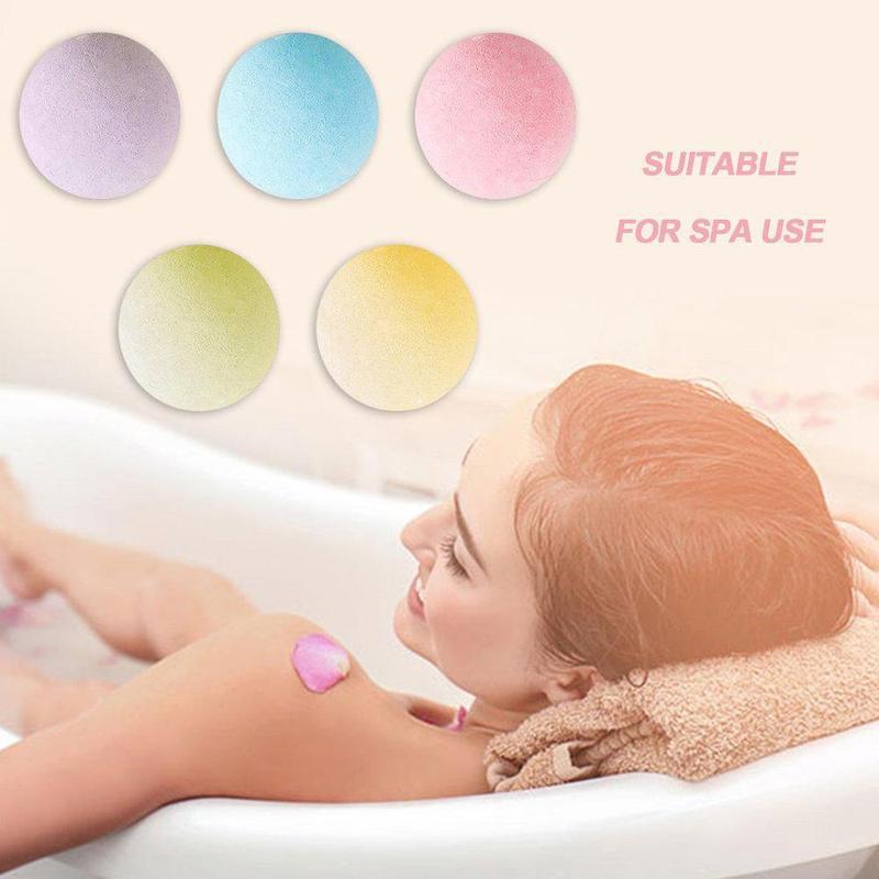 1pc Small Deep Sea Salt Bath Ball Hotel Bathroom Bath Bomb Aromatherapy Type Body Cleaner Handmade Bath Salt Bombs