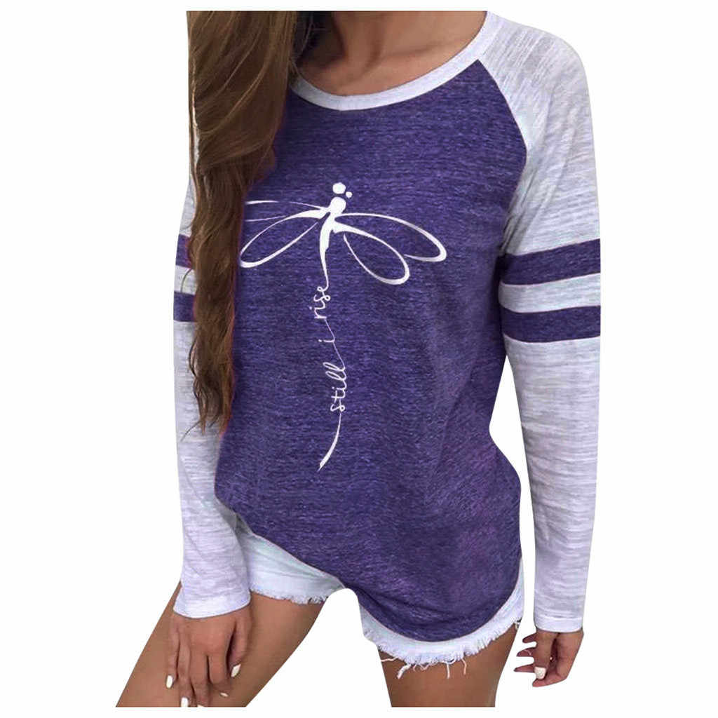 T Shirts Women Womens Chic Printed O-Neck T-Shirts Dragonfly Pattern Casual Short-Sleeved Soild Color Tees Tops