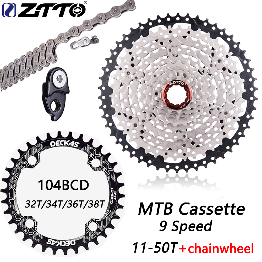 ZTTO MTB 9 скоростей 11-50T кассеты для горного велосипеда 9v 50T широкое соотношение велосипедов 9 S Freewheel Совместимо с M430 M4000 M590