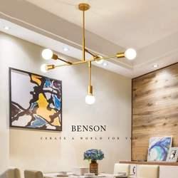 Postmodernistyczne zwięzłe lampa do salonu osobowość oryginalność lada do restauracji i baru sypialnia minimalistyczny oddział żyrandol w Wiszące lampki od Lampy i oświetlenie na