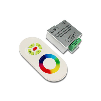 цена на Touch Dimmer RGB LED Controller DC 5V-24V 18A 3 Channel Adjustable Brightness Speeds RF Remote Controller for RGB LED Strips