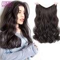 WTB длинные кудрявые 5 клипс в одной части Наращивание волос Синтетические натуральные волосы для женщин два стиля невидимые пушистые наклад...