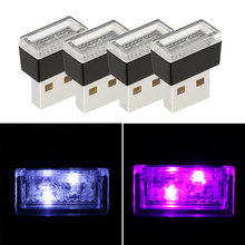 16 Pcs Mini LED Car Light Auto Interior USB Atmosphere Light Plug & Play Night Decor Lamp Emergency Lighting Car Accessories(China)