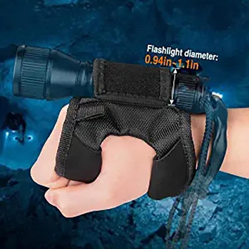 Flashlight Holder Flashlight Glove Hands-Free Flashlight Holder Universal Adjustable Wrist Strap Diving Lighting Accessories