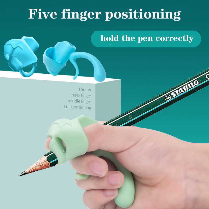Five-Finger Pencil Grip Silicone Posture Correction Pen Aid Grip  Baby Learning Writing Correction Tool  Children Pencil Holder