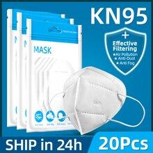 10 قطعة 5 طبقات قناع السلامة تنفس قناع واقٍ الوجه KN95 أقنعة الفم الغبار قابلة لإعادة الاستخدام الشحن السريع