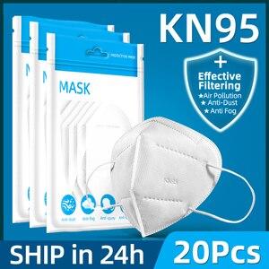 Image 1 - 10 قطعة 5 طبقات قناع السلامة تنفس قناع واقٍ الوجه KN95 أقنعة الفم الغبار قابلة لإعادة الاستخدام الشحن السريع