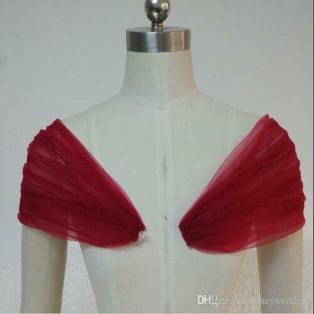One Pair Removable Shoulder Straps Wedding Party Dress Tulle Shawl, Wedding Gauze, Arms Straps
