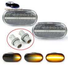 For Honda Civic S2000 Accord Del Sol Fit Integra dynamic led side marker turn signal indicator lights lamp car accessory