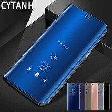 Умный зеркальный флип-чехол для Xiaomi Mi9 Mi 9 SE Mi8 Mi 8 Lite, чехол для Xiomi Mi 6 A1 A2 Lite 6X Play On Mi Mix 2 3 Note 3 Poco F1