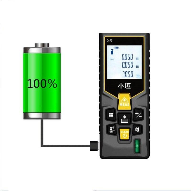 Mileseey medidor de distância a laser rangefinder trena laser fita gama finder construir medida dispositivo régua ferramenta teste