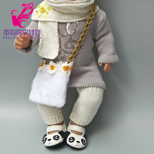 43cm baby dolls clothes knit dress hat scarf For 18