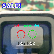 Objectif optique pour fusil de chasse,vue réflexe avec point rouge et vert, modèle 551 552 553 558,