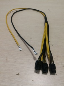 Image 2 - 10pcs/lot Triple 3X PCI E PCIe PCI Express 6Pin GPU Graphics Card Splitter Power Cable  for BTC Miner Machine Bitcoin Litecoin