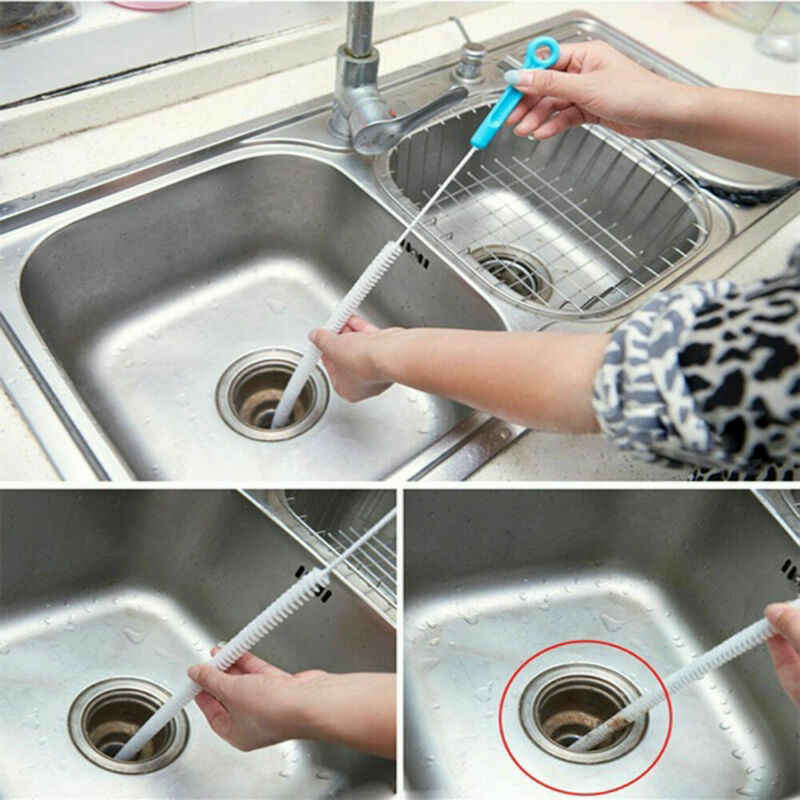 Duurzaam Flexibele Sink Overloop Afvoer Unblocker Clean Brush Cleaner Keuken Tool