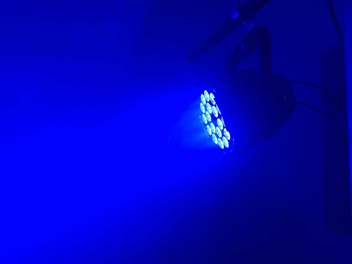 DJ Disco DMX Lamp LED Par Light 18x12W RGBW Quad 4in1 Color Home Party Lights DJ Equipment Stage Effect led Strobe Lighting