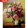 HUACAN Oil Painting By Numbers Flowers HandPainted Drawing Canvas Pictures Kits DIY Coloring Home Decoration Gift