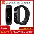 Оригинальный Xiaomi Mi Band 4 браслет для смарт-часов сердечного ритма фитнес 135 мАч цветной экран Bluetooth 5,0 Водонепроницаемый умный браслет