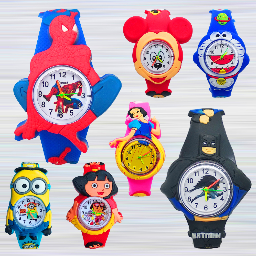 Silicone Batman Spiderman Watch Children Cartoon Mickey Kids Watches Children Digital Electronic Watch Kid Boy Girl Clock Gift