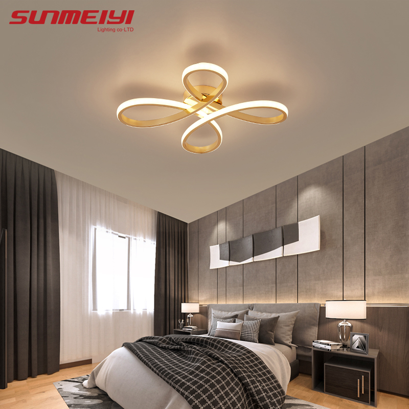 Gold Ceiling Lights Fixtures Bathroom Light Ceiling Lamp For Living Room Kids Bedroom Creative Modern LED Dimmable Plafonnier