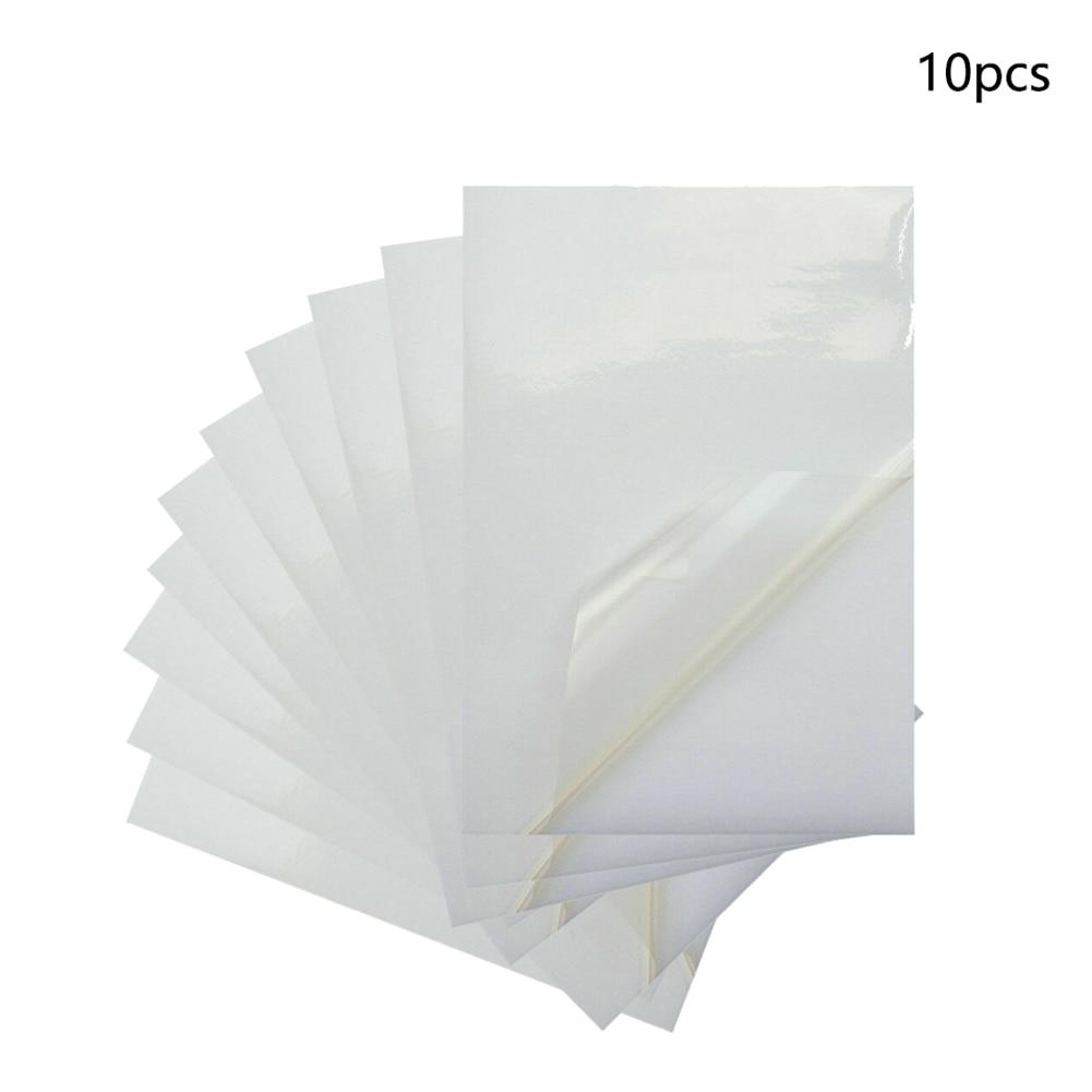 10x A4 baskı kağıdı aşınma direnci Anti kırma PVC pürüzsüz hafif şeffaf etiket su geçirmez şeffaf taşınabilir ofis