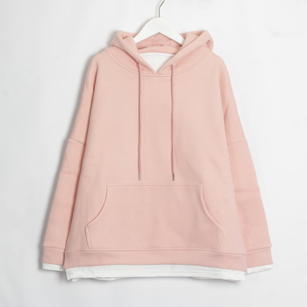 Wixra Women Casual Sweatshirts Warm Velvet Long Sleeve Oversize Hoodies Tops 2019 Autumn Winter Pullover Tops 10