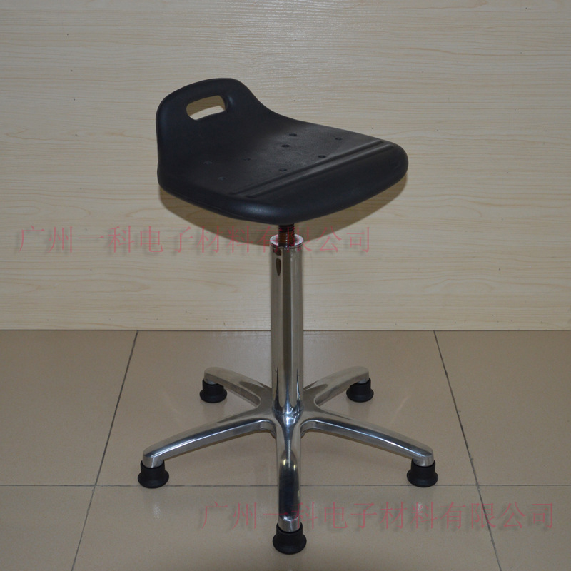 Anti-static Height Adjustable Round Stool PU Foaming Handle Small Stool Spiral Height Adjustable Round Stool Factory Employee St