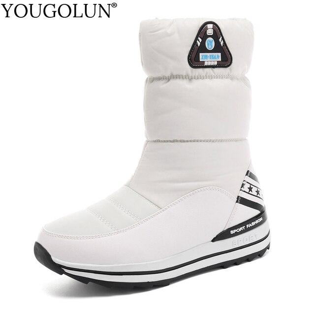 Keile Schnee Stiefel Frauen Winter Unten Lange Warme Flache Schuhe Frau A324 Mode Dame Schwarz Weiß Rot Runde Kappe Plattform stiefeletten