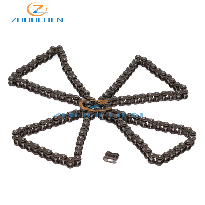 25H Sprocket Chain 146 Links With Spare Master Link For 47cc 49cc 2 Stroke Dirt ATV Quad 4 Wheeler Pocket Bike Mini Moto
