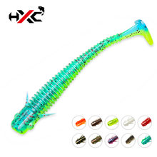 Hxc 10 шт/лот мягкие силиконовые приманки червячная рыболовная