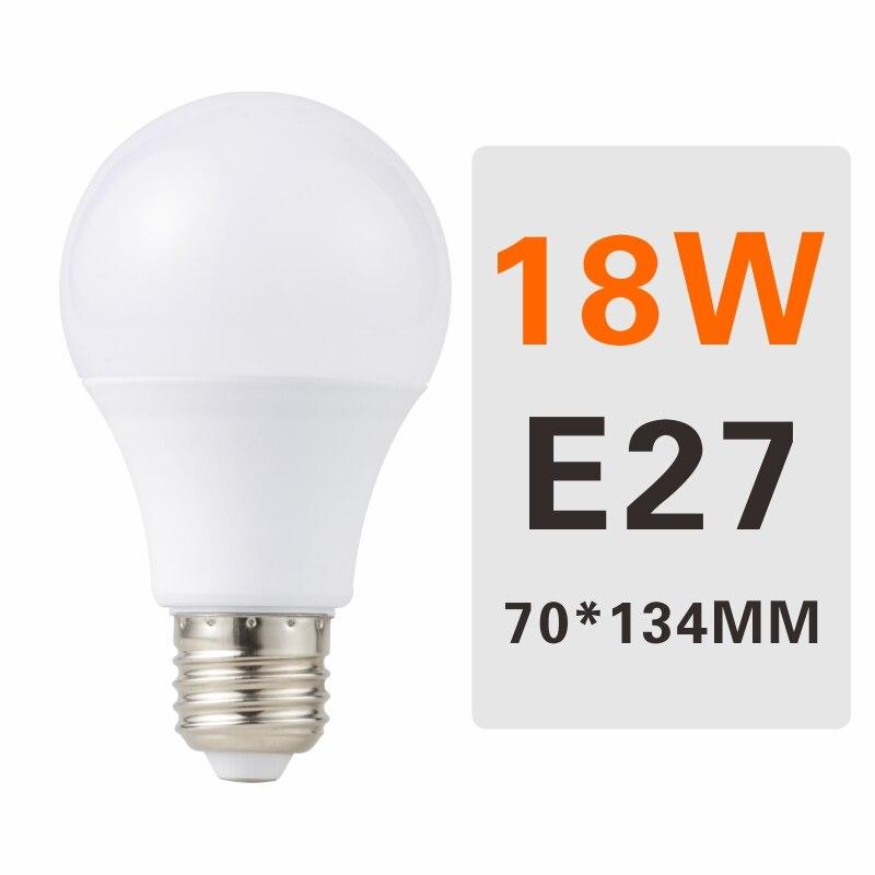 E27 E14 LED Bulb Lamps 3W 6W 9W 12W 15W 18W 20W Lampada Ampoule Bombilla LED Light Bulb AC 220V 230V 240V Cold/Warm White - Испускаемый цвет: 18W E27